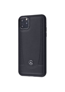 Perfo Mercedes Case (Leather) iPhone 11 (black)