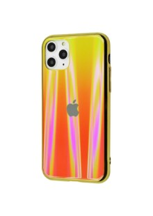 Glass iPhone case Benzo (Glass+TPU) iPhone 11 Pro Max (orange)