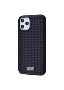 Kajsa Weaving Pattern Series (Genuine Leather) iPhone 11 Pro Max (black)