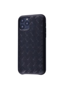 Natural Leather Weaving iPhone 11 Pro Max (black)