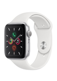 Apple Watch Series 5 (GPS) 40mm Silver Aluminum Case with White Sport Band (MWV62)