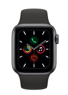 Apple Watch Series 5 44mm Space Gray Aluminum Case with Black Sport Band MWVF2GK/A