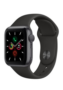 Apple Watch Series 5 (GPS) 44mm Space Gray Aluminum Case with Black Sport Band (MWVF2