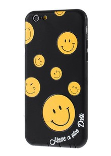 Smile TPU Case for iPhone 6S/6s/6S/6 Black
