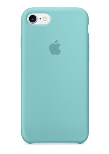 Накладка IPHONE7 Silicone case blue