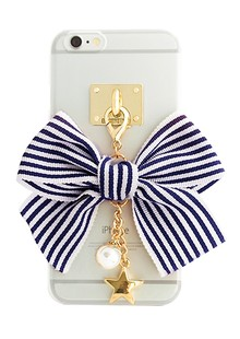 Bow with Tassel Case for iPhone 6 Blue