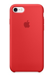 Накладка IPHONE7 Silicone case red