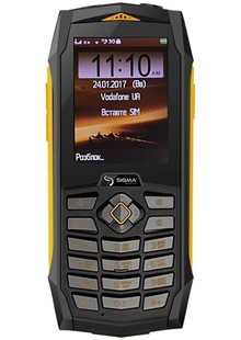 Sigma mobile X-treme PQ 68 black-yellow