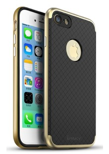 Чехол iPaky Leather Case iPhone 7 Carbon Gold