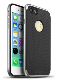 Чехол iPaky Leather Case iPhone 7 Carbon Space grey