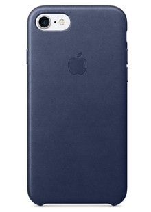 чехол-НАКЛАДКА  Apple iPhone 7 Leather Case - Midnight Blue