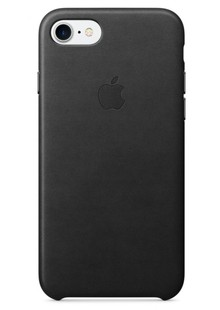 чехол-НАКЛАДКА  iPhone 7 Leather Black MMY52ZM/A