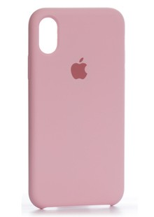 Накладка IPHONE X Silicone case 360 Pink