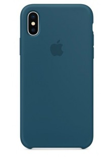 Накладка IPHONE X Silicone case Midnight Blue