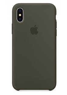Накладка IPHONE X Silicone case Olive Grab