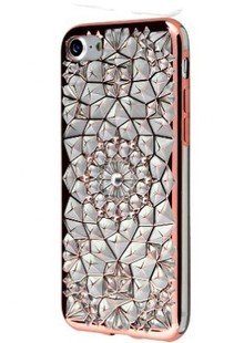 чехол-НАКЛАДКА Gelin new (TPU) iPhone 7/8 (rose gold)