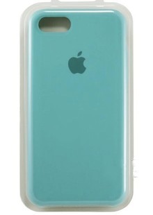 чехол-НАКЛАДКА IPHONE7+ Silicone case Aquamarine