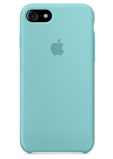 Накладка IPHONE 8 plus Silicone case Aquamarine