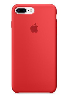Накладка IPHONE 8 plus Silicone case Candy red