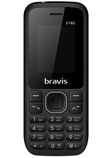 BRAVIS C182 SIMPLE DUAL SIM BLACK