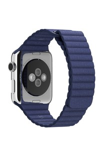 Magnetic Leather Loop For Apple Watch 42mm Blue