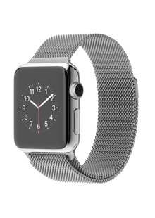 Apple Watch 38mm Stainless Steel Case with Milanese Loo (MJ322)
