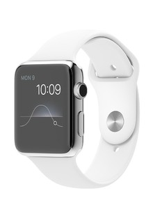 Apple Watch Sport 42mm Silver Aluminum Case with White Sport Band (MJ3N2)