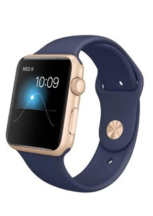 Apple Watch Sport 42mm Gold Aluminum Case with Midnight Blue Sport Band (MLC72)