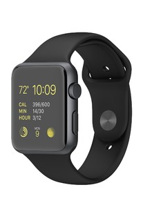 Apple Watch Sport 42mm Silver Aluminum Case with Black Sport Band MJ3T2