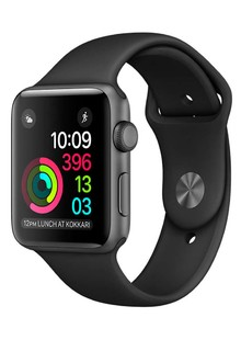 Apple Watch Sport Series 2 42mm Space Gray Aluminum Case with Black Sport Band(MP062)