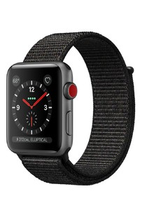 Apple Watch Series 3 GPS + LTE MRQF2 42mm  Space Gray Aluminum Case with Black Sport Loop