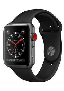 Apple Watch Series 3 GPS + LTE MR2W2 38mm Space Gray Aluminum Case with Gray Sport Band
