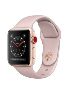 Apple Watch Series 3 GPS + LTE MQJQ2 38mm Gold Aluminium Case with Pink Sand Sport Band