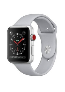 Apple Watch Series 3 GPS + LTE MQJN2 38mm Silver Aluminum Case with Fog Sport Band