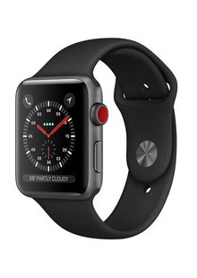 Apple Watch Series 3 GPS + LTE MQKN2 42mm Space Gray Aluminum Case with Black Sport Band
