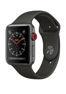 Apple Watch Series 3 GPS + LTE MR2X2  42mm Space Gray Aluminum w. Gray Sport Band