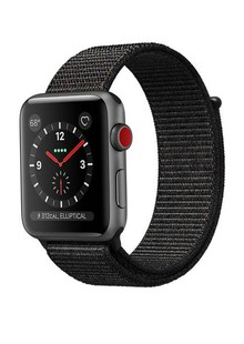 Apple Watch Series 3 GPS + LTE MRQE2 38mm  Space Gray Aluminum Case with Black Sport Loop