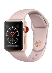 Apple Watch Series 3 GPS + LTE MQKP2 42mm Gold Aluminium Case with Pink Sand Sport Band