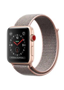 Apple Watch Series 3 GPS + LTE MQK72 Gold Aluminum Case with Pink Sand Sport Loop