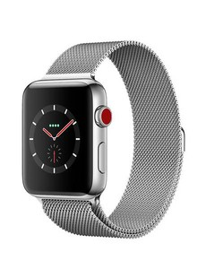 Apple Watch Series 3 GPS + Cellular 38mm Stainless Steel Case with Milanese Loop (MR1F2)