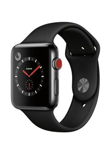 Apple Watch Series 3 GPS + Cellular 42mm Space Black Stainless Steel with Black Sport Band (MQK92)