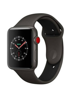 Apple Watch Edition GPS + Cellular 42mm Gray Ceramic Case with Gray/Black Sport (MQKE2)