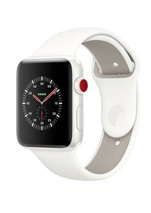 Apple Watch Edition GPS + Cellular 42mm White Ceramic Case with Soft White/Pebble Sport (MQKD2)