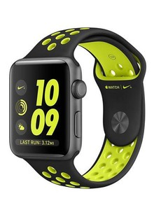 Apple Watch Series 2 Nike+ 38mm Space Gray Aluminum Case with Black/Volt Nike Sport Band (MP082)