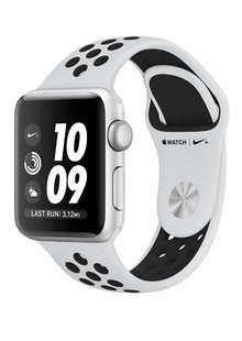 Apple Watch Series 3 Nike+ 38mm Silver Aluminum Case with Pure Platinum/Black Nike Sport Band (MQKX2)