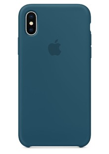 Накладка IPHONE X Silicone case Cosmos Blue 1in1