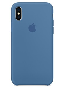 Накладка IPHONE X Silicone case Denim Blue 1in1