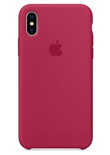 Накладка IPHONE X Silicone case Rose Red 1:1
