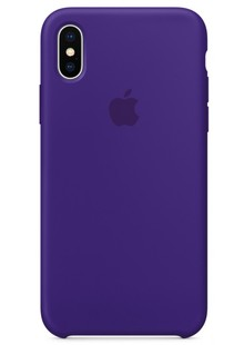 Накладка IPHONE X Silicone case Ultra Violet 1in1