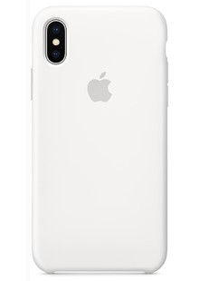 Накладка IPHONE X Silicone case White 1in1